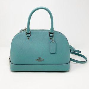 Coach Mini Sierra Crossgrain Handbag Aquamarine